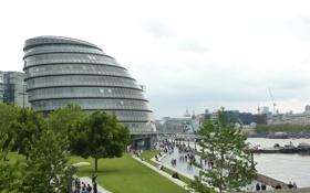 Картинка дизайн, город, uniquely designed buildings along the River Thames in London, архитектура, экстерьер, здание, стиль