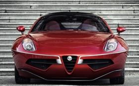 Картинка красный, Alfa Romeo, автомобиль, красивый, Touring, Disco Volante