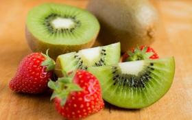 Картинка ягоды, еда, киви, клубника