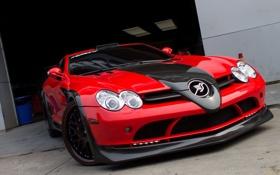 Обои McLaren, Mercedes-Benz, SLR, Red, Hamann, Front, Tuning