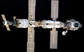 Обои спутник, станция, орбита, МКС