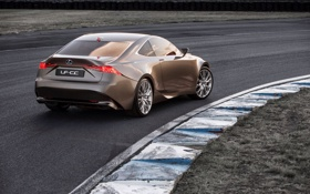 Обои авто, Concept, трасса, Lexus, задок, LF-CC