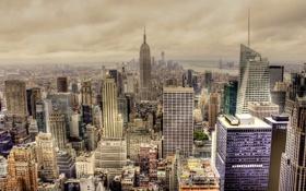 Обои город, New York, Manhattan