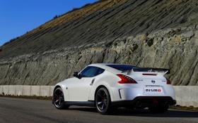 Обои белый, Авто, Машина, Ниссан, Nissan, Купэ, 370Z