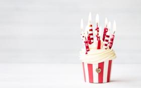 Обои cake, birthday, happy birthday, candles