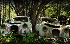 Обои машины, свалка, лом