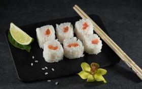 Обои еда, палочки, Sushi