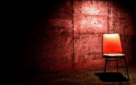 Обои light, red, wall, Chair