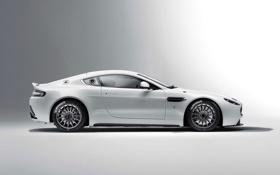 Обои Aston Martin, Авто, Vantage, Белый, Купэ, Спорткар, Вид сбоку