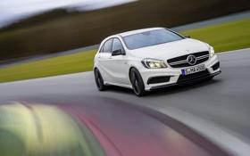Обои Mercedes-Benz, Машина, Мерседес, Капот, AMG, A45