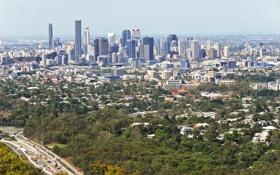 Обои город, фото, дома, Австралия, мегаполис, Brisbane