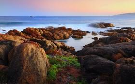 Обои море, камни, берег, побережье, Австралия