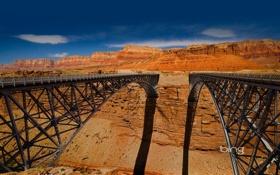 Обои bing, высота, каньон, мосты, тень