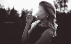 Картинка дым, Девушка, сигарета
