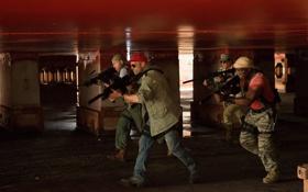 Обои Сильвестр Сталлоне, Рэнди Кутюр, Джейсон Стэйтем, Уэсли Снайпс, The Expendables 3, Неудержимые 3