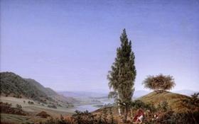 Обои Caspar David Friedrich, Munich Neue Pinakothek, Summer, Der Sommer, немецкий художник, один из крупнейших представителей ...