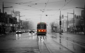 Обои Toronto, Streetcar, St. Claire and Bathurst