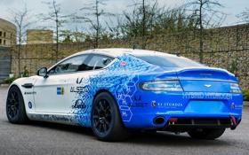 Обои Hybrid, синий, Hydrogen, car, Rapide S, задок, blue