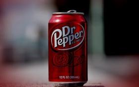 Обои банка, доктор пеппер, Dr Pepper, напиток, газировка