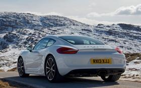 Картинка машина, Porsche, Cayman, красивая, задок