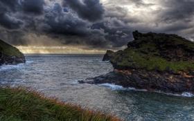 Обои вода, облака, природа, фото, побережье, Англия, Небо