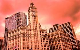 Обои небо, здания, Чикаго, USA, США, Америка, Chicago