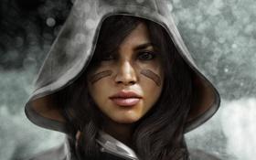 Картинка девушка, волосы, капюшон, killzone 3