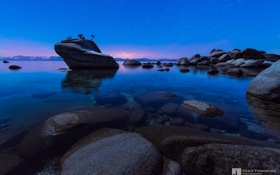 Обои photographer, Nevada, Lake Tahoe, Bonsai Rock, Kenji Yamamura