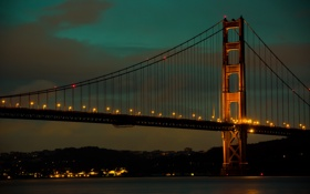 Картинка мост, Калифорния, Сан-Франциско, Золотые Ворота, Golden Gate Bridge, California