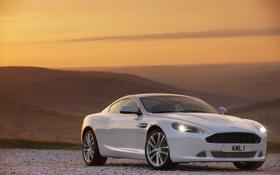 Обои DBS, Aston Martin, горы, белый