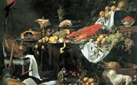 Обои Adriaen van Utrecht, натюрморт, картина