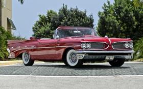 Обои Кабриолет, Pontiac, Понтиак, передок, Convertible, 1959, Каталина