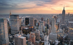 Обои город, небоскрёбы, panorama, skyscrapers, cityscape