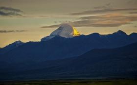 Обои пейзаж, горы, Китай, Тибет, Tibet, Golden Kailash