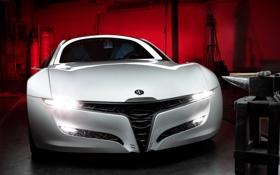 Обои фары, Alfa Romeo, концепт-кар, вид спереди, передок, Pandion