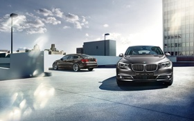 Обои бмв, BMW, 5 series, гран туризмо, Gran Turismo, 2015, F07