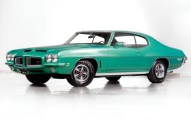 Обои Coupe, Pontiac, GTO, Понтиак, передок, Muscle car, 1972