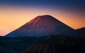 Обои Индонезия, Ява, Tengger, вулканический комплекс-кальдеры Тенгер, вулкан Бромо