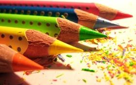 Обои фон, цветные, стержни, карандаши