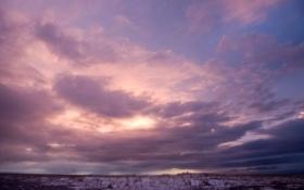 Картинка небо, облака, фиолетовое