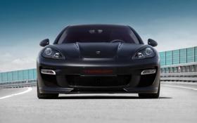 Обои машина, panamera, трек, Porsche, topcar