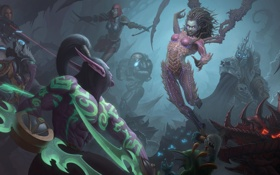 Картинка starcraft, diablo, warcraft, Demon Hunter, Jim Raynor, Zeratul, sarah kerrigan