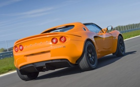 Обои машина, скорость, Lotus, задок, Elise S