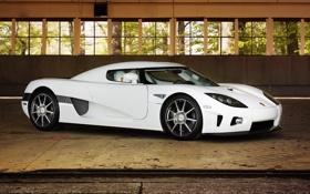 Обои белый, Koenigsegg, суперкар, white, CCX, кёнигсег