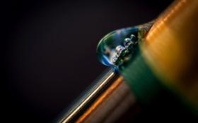 Картинка вода, макро, капельки, фон, цвет, капля