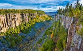 Обои скалы, Канада, каньон, Онтарио, Canada, Ontario, Ouimet Canyon