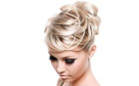 Обои волосы, задучивость, Блондинка, причёска
