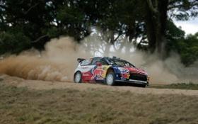 Обои Спорт, Машина, Citroen, Tilt-Shift, Loeb, WRC, Rally