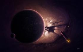 Картинка звезды, космос, пространство, космические, галактика, корабли, свет