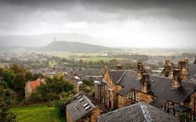 Картинка пейзаж, город, дома, крыши